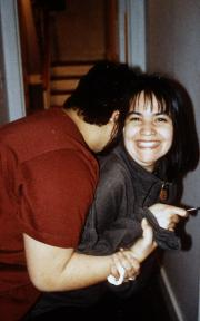 Two students laugh, c.1995