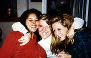 Three students hug, c.1995