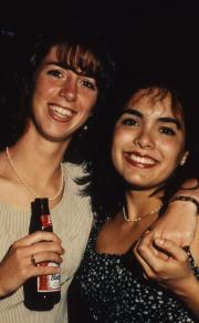 Two students smile, c.1996