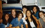 Students relax in a dorm room, c.1996