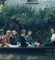 Students sit on a boat, c.1996