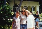 Three students study abroad, c.1996