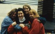 Four friends embrace, c.1996