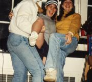 Three students take a silly photo, c.1996