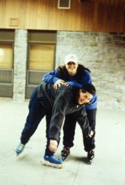Students roller-blade, c.1996