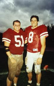 Two football players, c.1996
