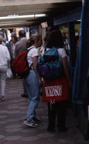 Students shop at Norwich Market, 1995