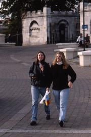 Two students in Norwich, 1995