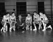 Coach Kennedy Meets with Players, 1949