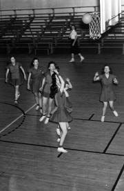Women's Basketball Practice, c.1950