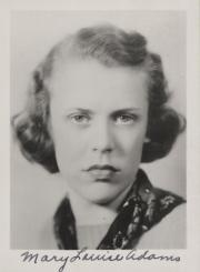Mary Louise Adams, 1938