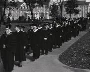 Academic procession at President Rubendall's Inauguration, 1961