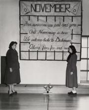 Homecoming banner, 1951