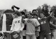 Theta Chi brothers celebrate, 1981