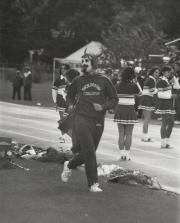 Red Devil at Homecoming game, 1982