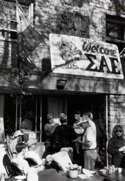 Sigma Alpha Epsilon celebration at Homecoming, 1990