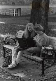 Photo album at Homecoming, 1990
