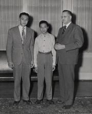 Two international students, c.1950