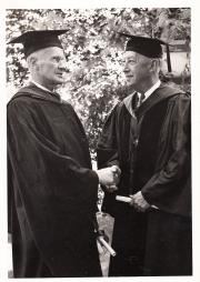 Two Honorary Degree recipients at Commencement, 1941