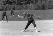 Softball player pitches, 1987