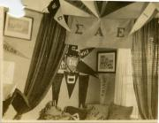 Sigma Alpha Epsilon house interior, c.1900