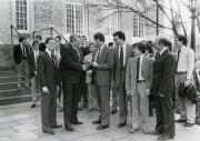 Sigma Alpha Epsilon with President Banks, 1984