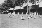 Obstacle course on Biddle Field, 1944