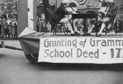 Granting of Grammar School Deed Float, 1948