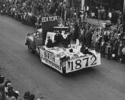 """""""Birth of the Newspaper"""" Float, 1948"""