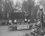 """Taney and Friends Play """"Bandy"""" Behind the College - 1794 Float, 1948"""