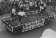 """Taney and Friends Play '""""Bandy"""" Behind the College - 1794 Float, 1948"""