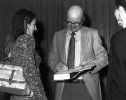 John Barth book signing, Arts Award, 1980