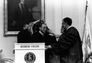 Jurgen Timm receives honorary degree, 1987
