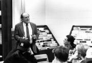 George Masters Woodwell in class, 1993