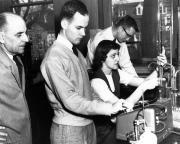 Chemistry lab, c.1950