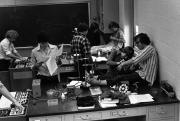 Biology lab, 1982