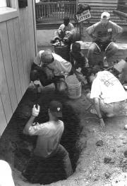 Volunteer construction work, 1995