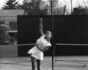Volleying a serve, c.1985