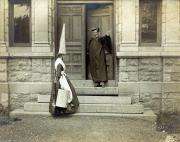 Female student in dunce caps, c.1890
