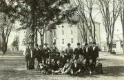 Group in front of Old West, c.1890
