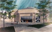 Anita Tuvin Schlechter Auditorium, architect's rendering, c.1969