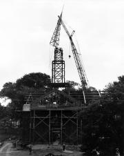 Allison United Methodist Church construction, 1957