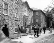 Students walking by Althouse Hall, c.1965