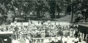Alumni Gymnasium groundbreaking ceremony, 1927