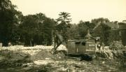 Alumni Gymnasium construction, 1927