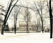 Alumni Gymnasium covered in snow, c.1930