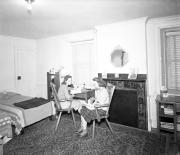 Two students in their room at Gibbs House, c.1955