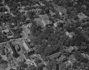 Aerial view of campus, c.1955