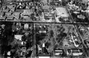Aerial view of campus, c.1965