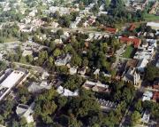 Aerial view of campus, c.1985